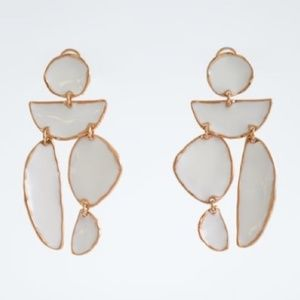 Enameled Drop Earrings!